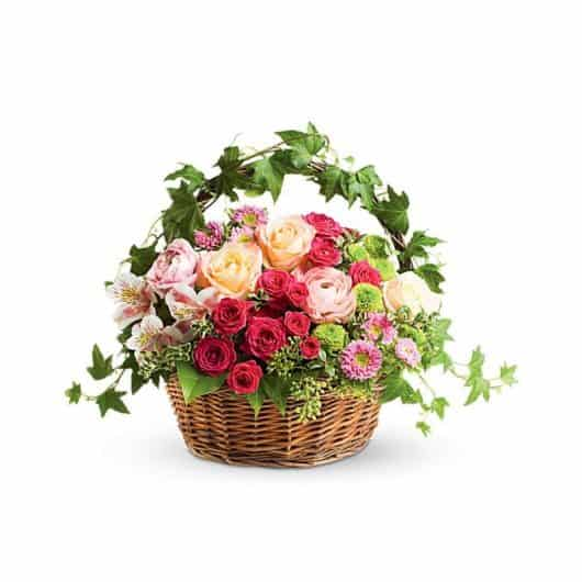 centro de rosas para regalar y alegrar