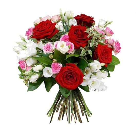 Lisiamthun Roses, ramo de rosas y lisianthum