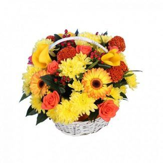 flores variados con celocía gerveras, margaritas, rosas y calar