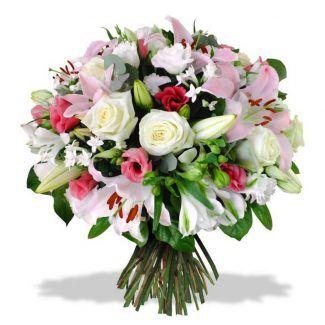 flores variados, rosas orientales y lisiamthun, luxury flowers