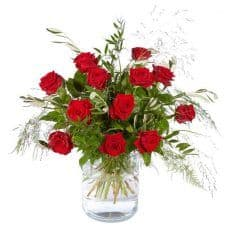 ramo de doce rosas rojas, Clasic Rose