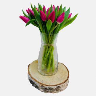 ramo de 20 tulipanes rosados