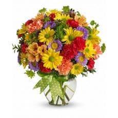 ramo de flores colorido y alegre