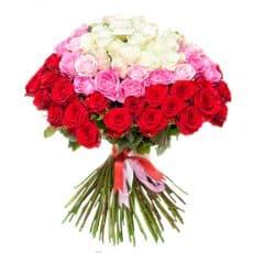 ramo de rosa grande con rojo rosa rosado y rosa blanco