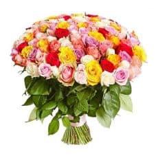 ramo de rosas variadas exclusivo ramo de flores