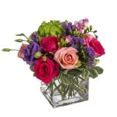 centro de mesa para restaurantes de rosas lisianthum