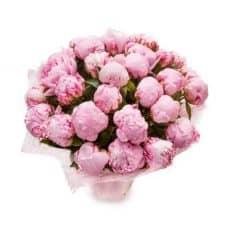 ramo de peonías rosados