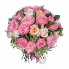 ramo de peonías de color rosados con tonalidades