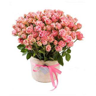 ramo de rosas mini rosado