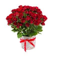 ramo de rosas mini rojas