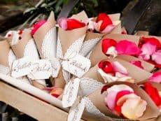 pétalos de rosas para bodas