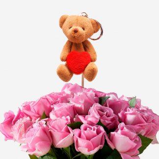 pick oso amor para flores