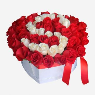 Centro de rosas personalizado, rosas san valentín Madrid, envío de rosas naturales Madrid